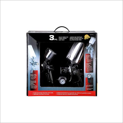 3 PC HVLP Gravity Feed Paint Gun Set