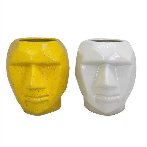 Ceramics Handmade Face Flower Pot