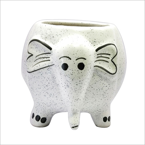 Ceramic Elephant Shape Flower Pot