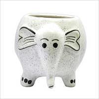 Ceramic Elephant Shape Flower Pot