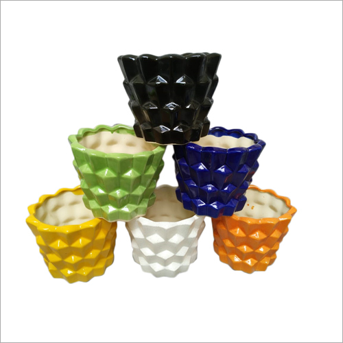 Multi Color Ceramic Pots
