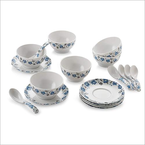 Printed Ceramic Soup Bowl Set