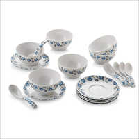 Printed Ceramic Soup Bowl Set