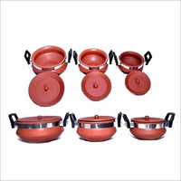 Terracotta Degchi Set With Handle