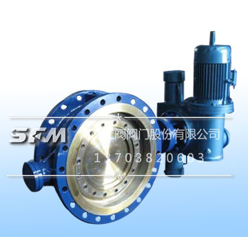 Electro-hydraulic flanged butterfly valve