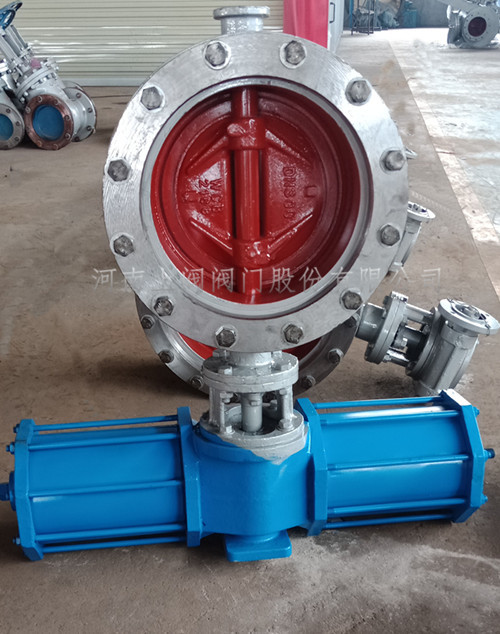 Pneumatic flange type hard seal butterfly valve