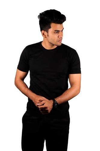 Men 160 Gsm Plain Cotton T-shirt
