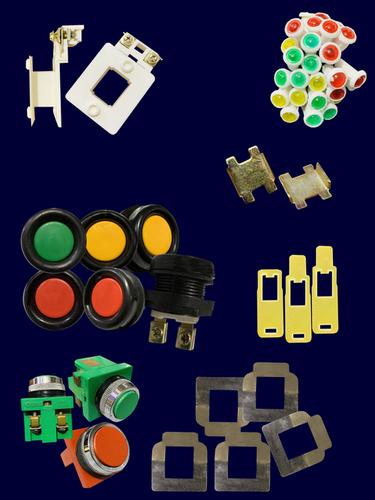 Push Buttons, Fiber, Contactor Coil Bobbins, Tention Patti , Indicators