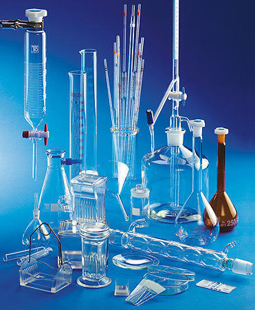 Hospital laboratory  glassware