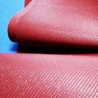 1080grams red silicone coated fiberglass fabric
