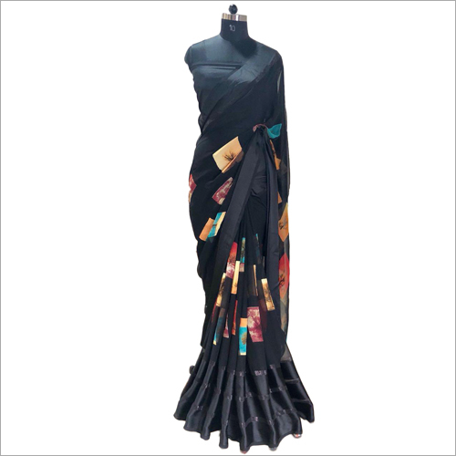 Ladies Black Saree
