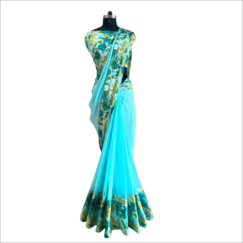 Stylish Floral Printed Saree