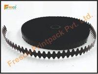 Black Teeth Cut Tipping Film