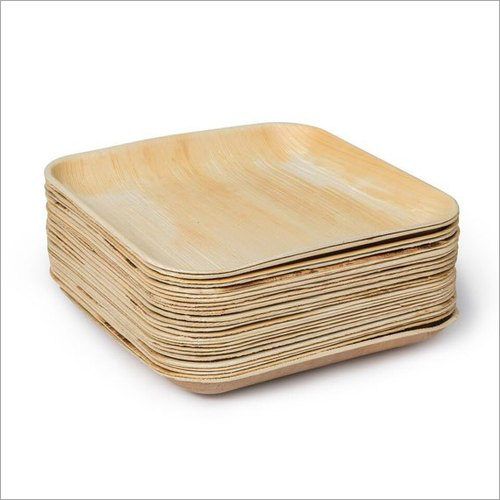 8x8 Inch Areca Leaf Square Plate