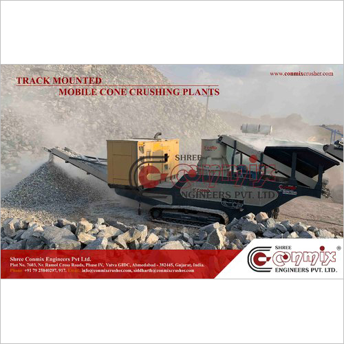 Conmix Mild Steel Portable Secondary Cone Crusher Plant