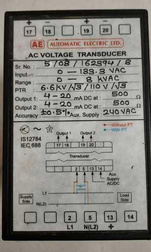 AE  AC VOLTAGE TRANDUCER  IS12784
