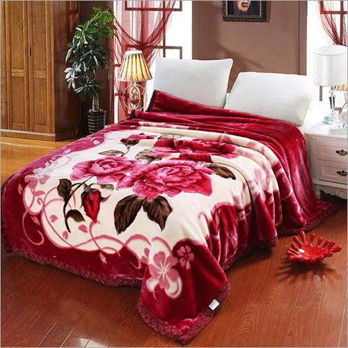 Floral Mink Blanket
