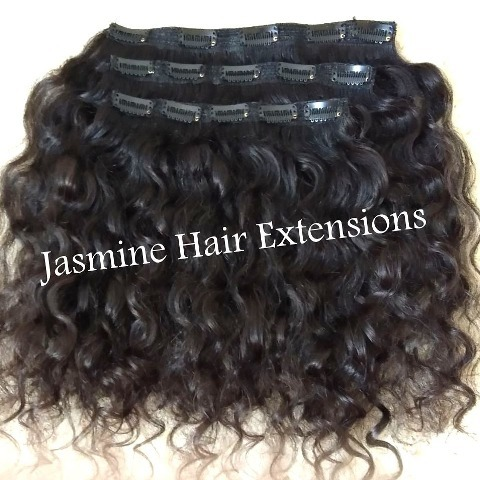 Natural Curly Clip In Hair, Cuticle Aligned hair