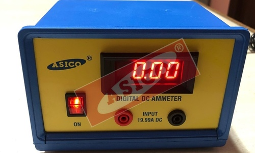 Digital DC Ammeter LED Type Mains operated