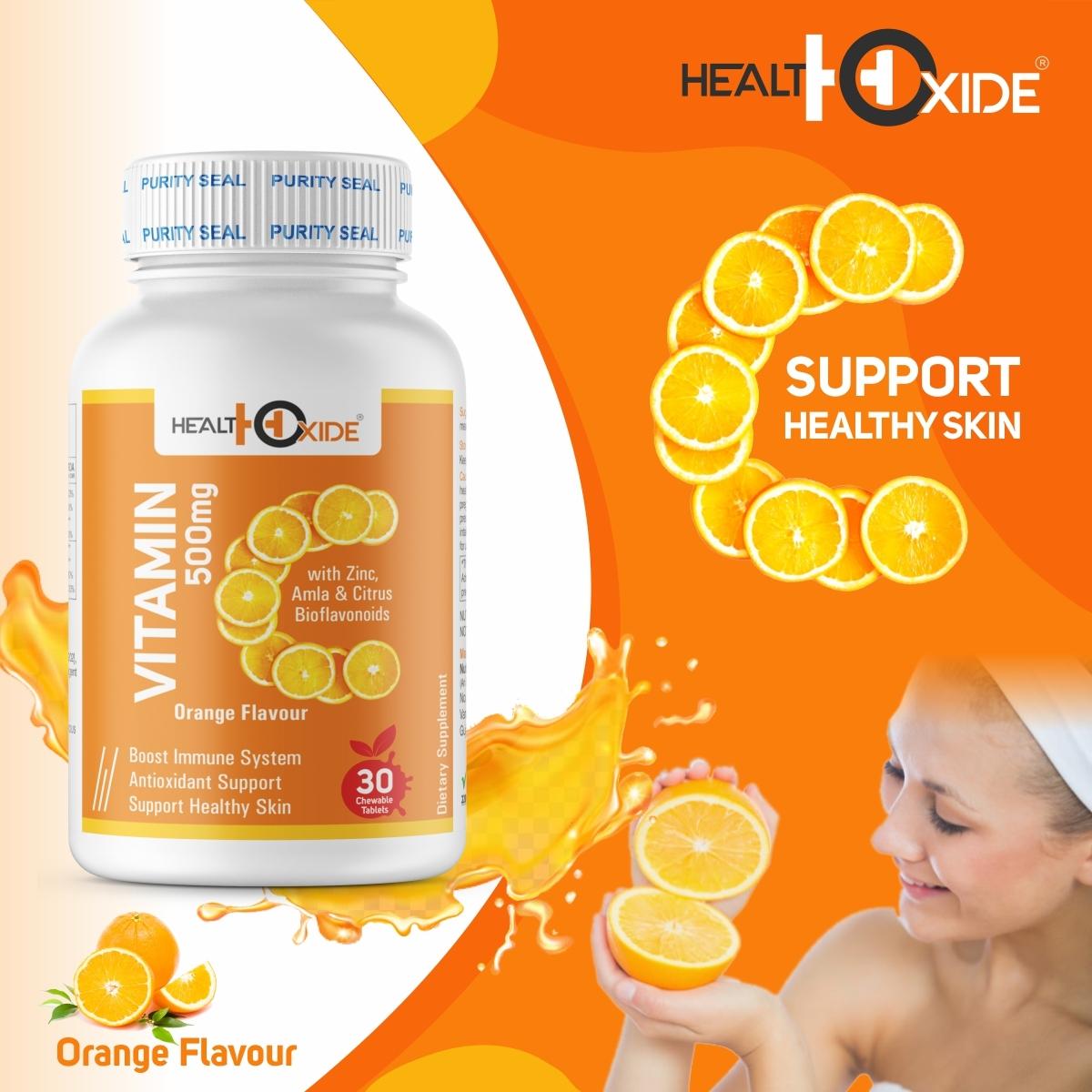 Healthoxide Vitamin C 500mg Chewable Orange Flavour