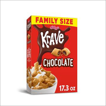 Kelloggs Krave Breakfast Cereal Chocolate Family Size 17.3 Oz