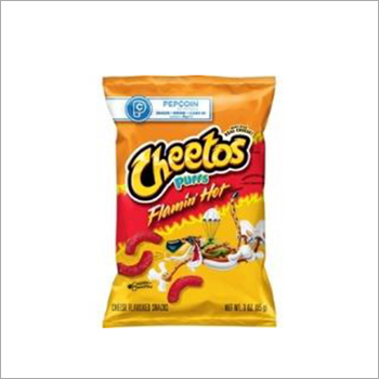 Cheetos Puffs Cheese Flavored Snacks Flamin  Hot Flavored