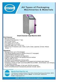 Small Character Inkjet Machine 9029