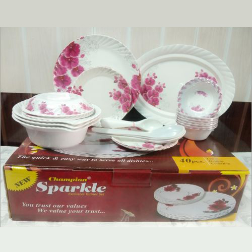 40 Pcs Champion Sparkle Dinnerware Set