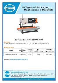 Continuous Band Sealer CS 15 PID H HV