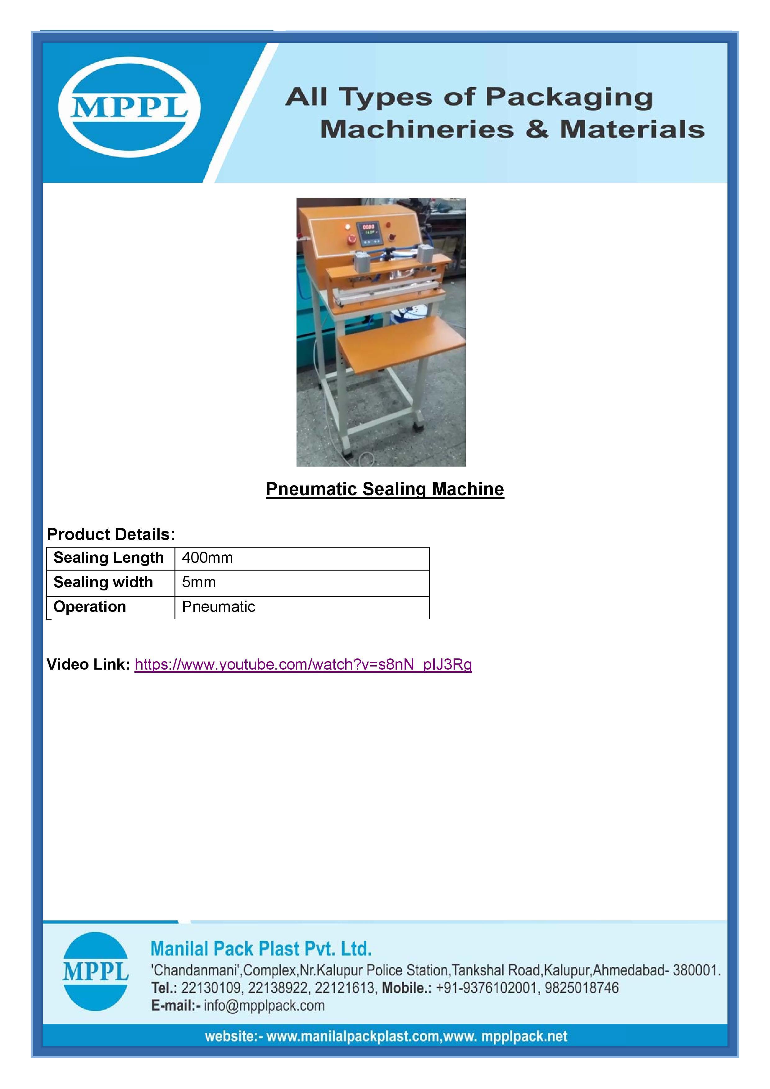 Pneumatic Sealing Machine