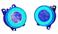 Autofasters DRL Blue Ring with 6 LED Car Fog Light-2Pcs For Brezza, Alto K10, Ritz, Ford Fiesta, Kwid, Maruti Suzuki Wagon R, Tata Nexon, Celerio, Corolla Altis, S-cross, Maruti Suzuki Dzire