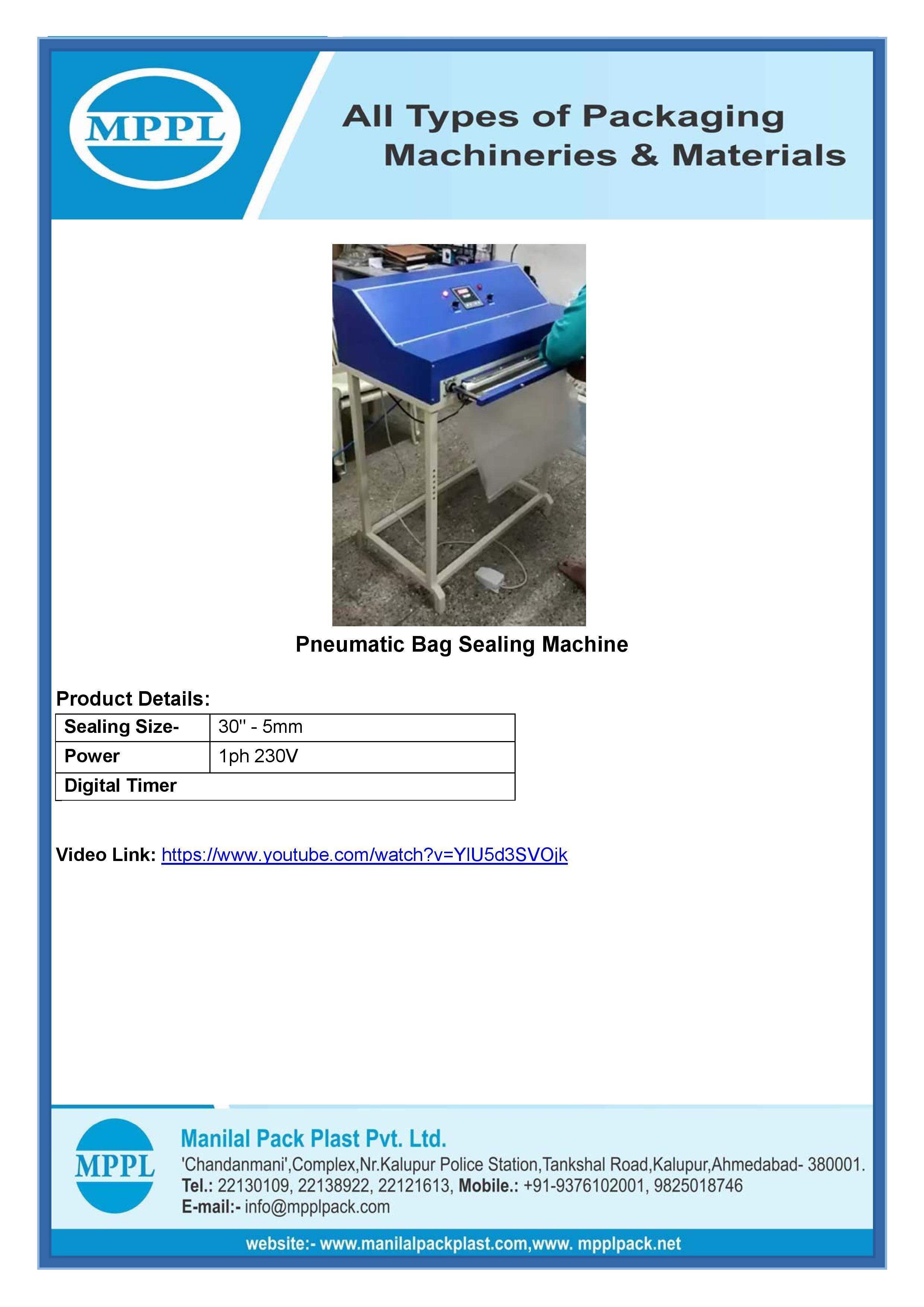 Pnumatic Bag Sealing Machine