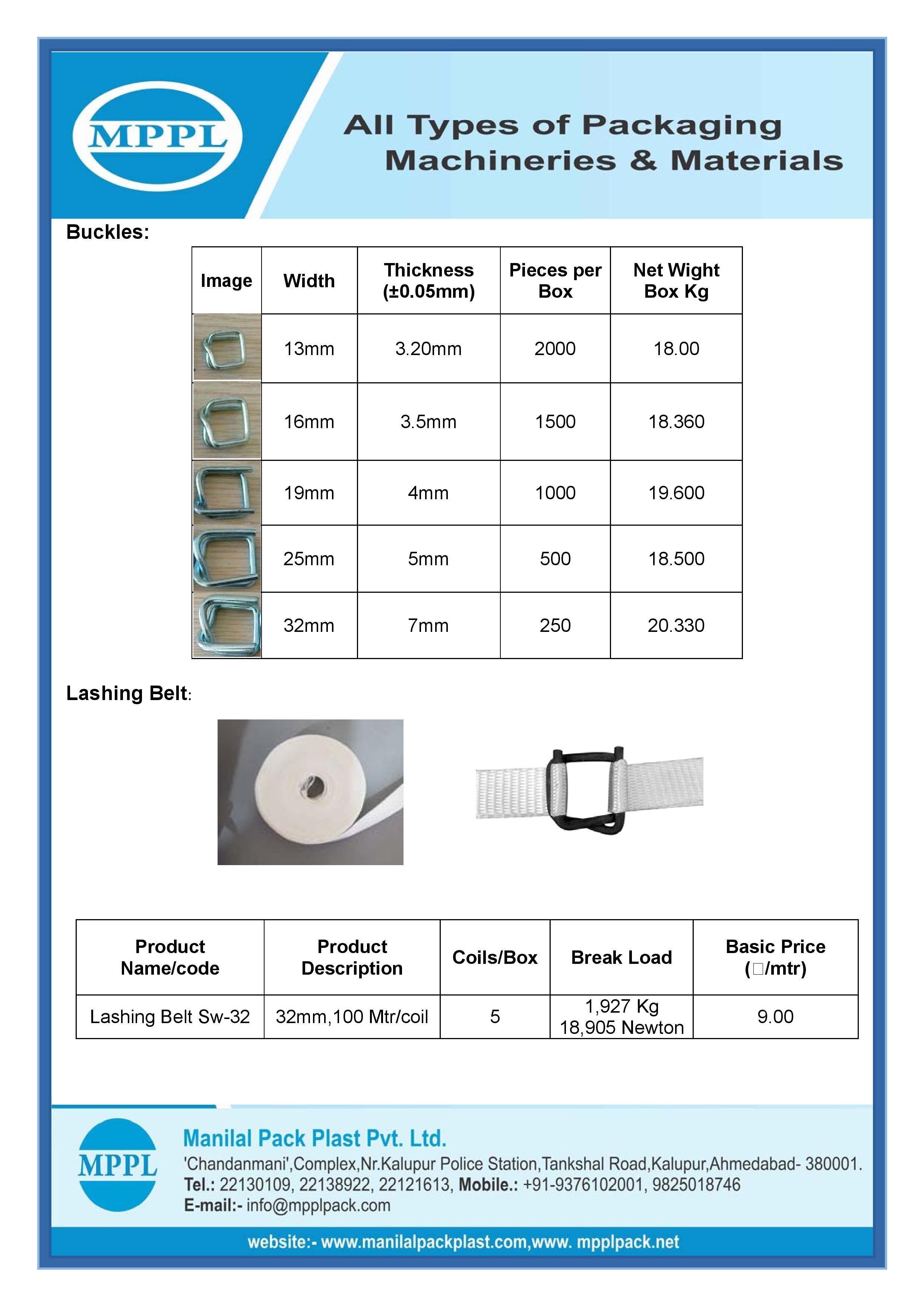 Cord Strap, Buckles & Accessories