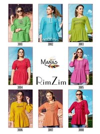 Manasv Ladies  Kurti By Rim Zim