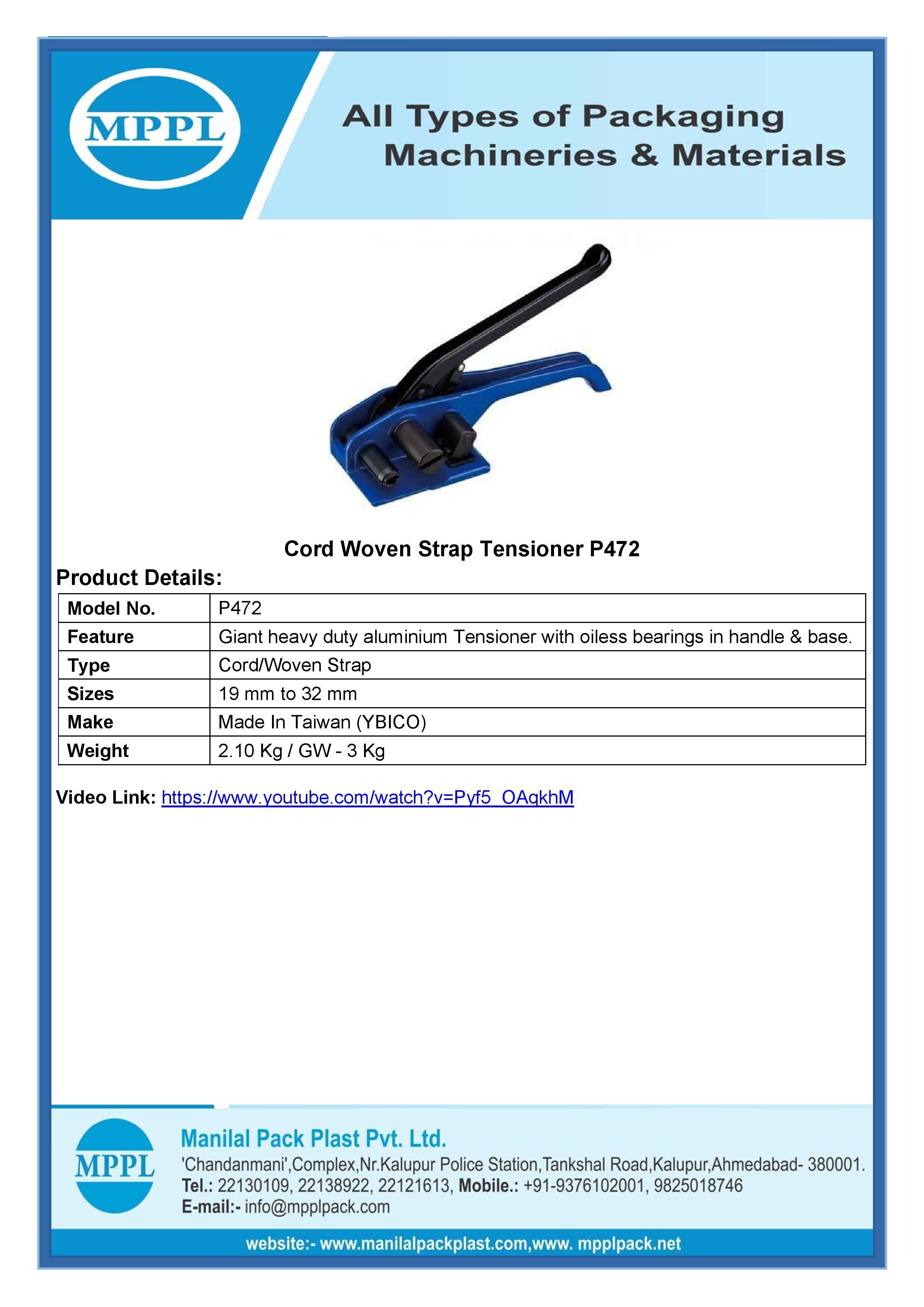 Cord Woven Strap Tensioner P472