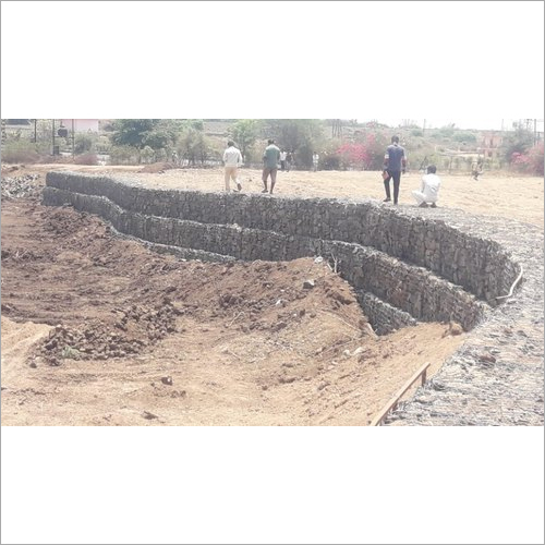 Plot Retaining Gabion Wall