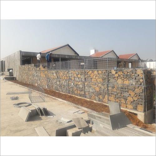 Decorative Gabion Compound Wall