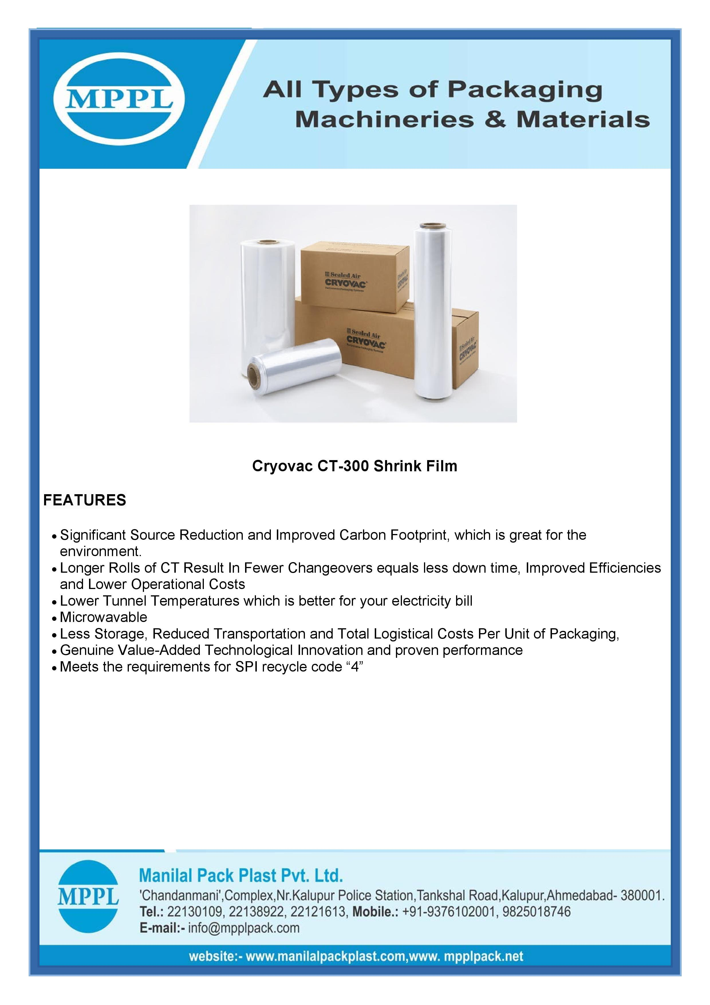 Cryovac CT-300 Shrink Film