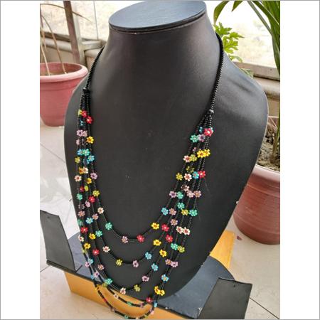 Black 5 Strand Necklace