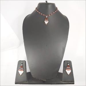 White Brown Necklace