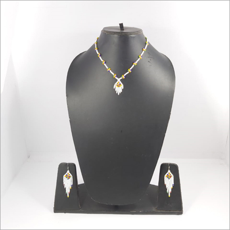 Multicolored White Necklace