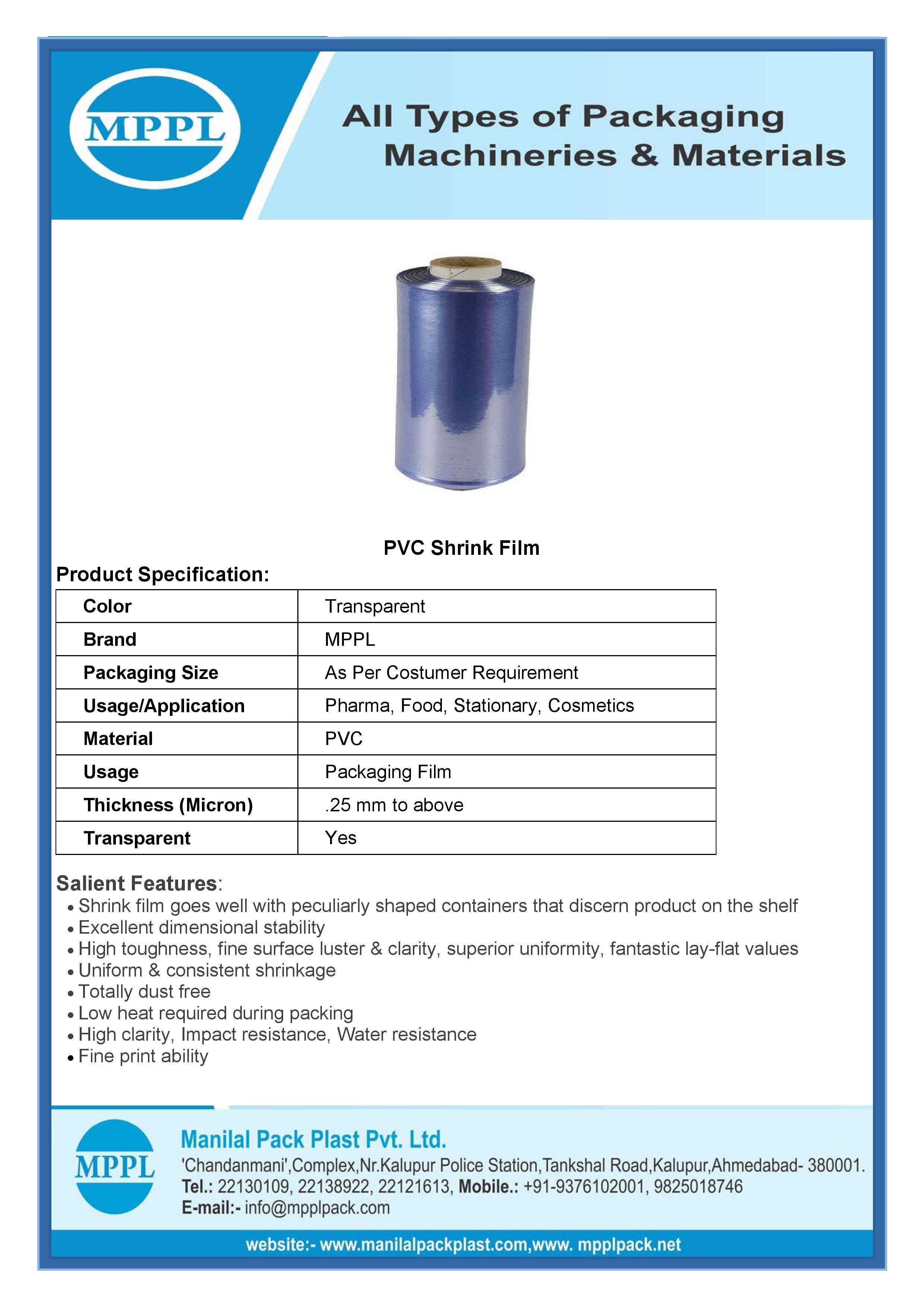 PVC Shrink Film