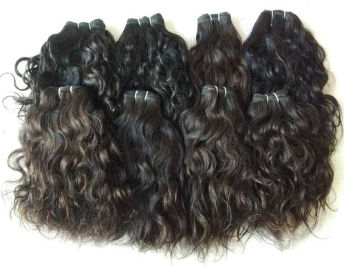 No chemical full cuticle Raw Natural wavy weave Hair
