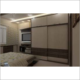 Designer Bed And Almirah Set