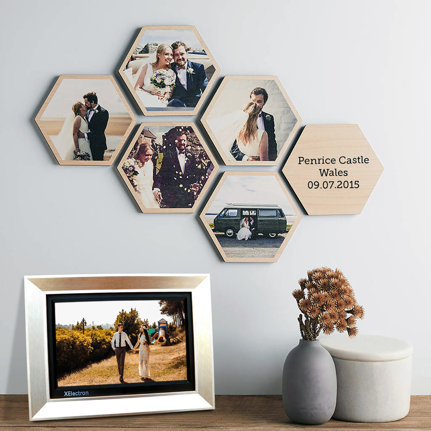 12 Inch IPS Digital Photo Frame/Video Frame with 1920x1080, 1080P Resolution, Plays Images, Video & Music