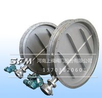 Electric regulating ventilation butterfly valve