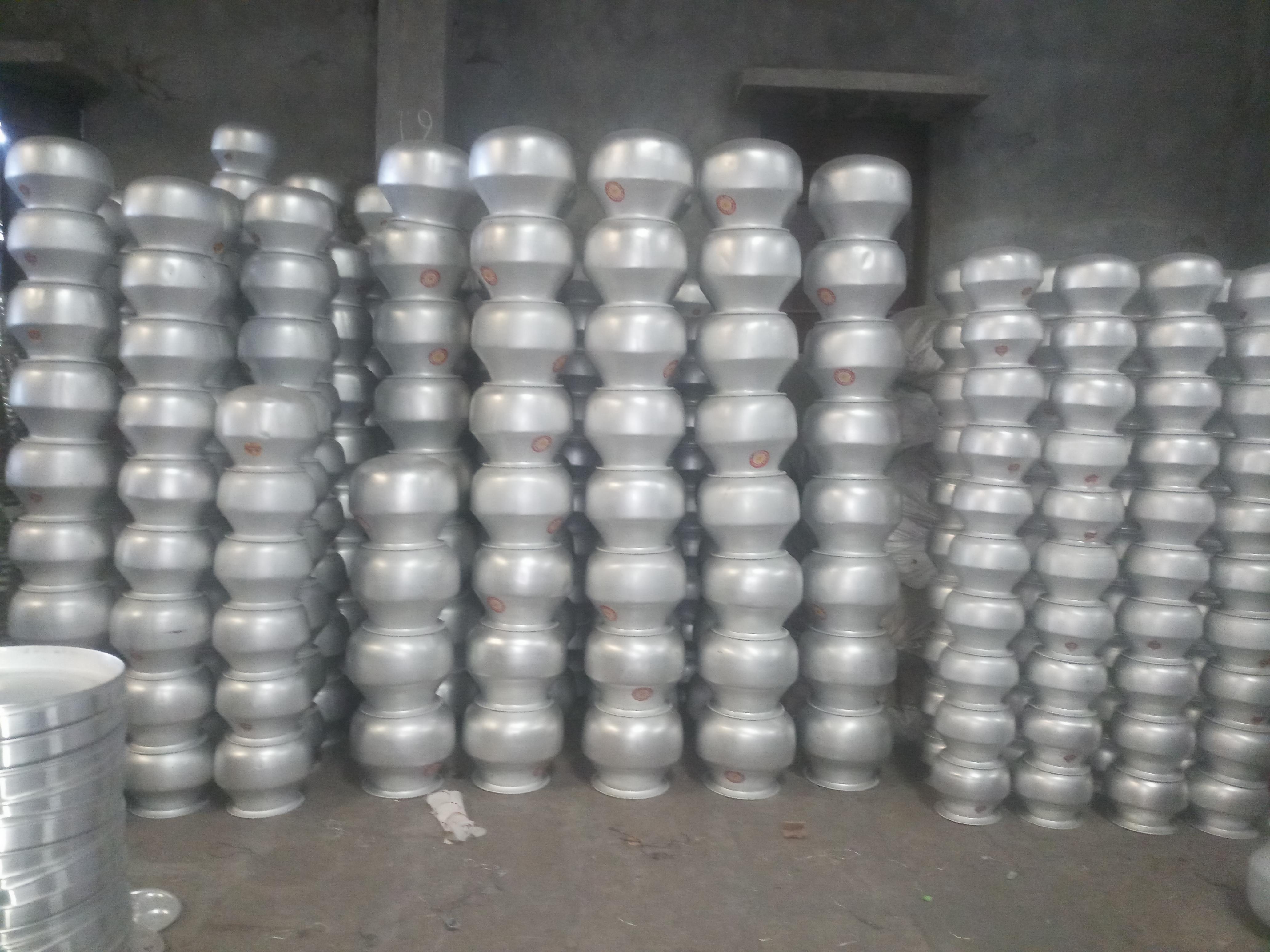 Aluminium Round Dabba, Aluminium Tope