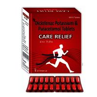 Diclofenac Sodium IP 50 mg + Paracetamol IP 325 mg , CARE RELIEF.