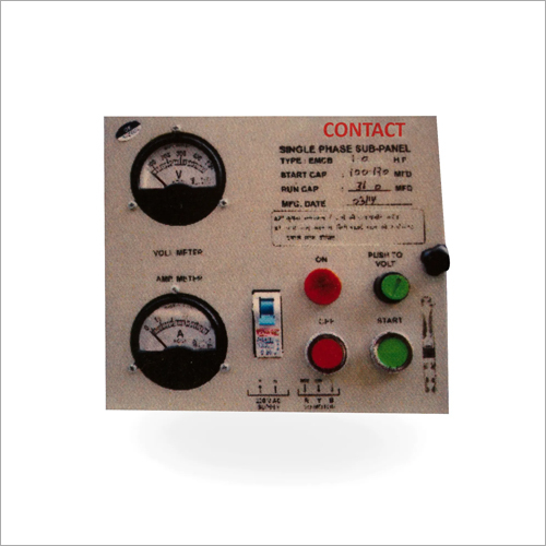 Single Phase Submersible Control Sub Panel
