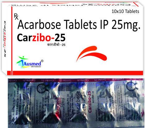 Acarbose Ip 25 Mg ,carzibo-25.